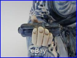 13 Vintage Japanese Kutani Porcelain Old Man Figurine Figure Blue & White