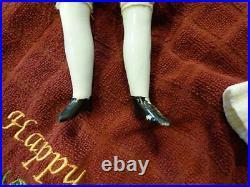 16 Alt Beck G Antique Biedermeier Bald China Head Doll/Bonnet orig wig/dress