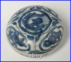16th Century, Ming, Antique Chinese Porcelain Blue and White Covered Box