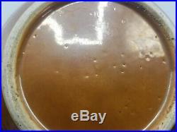 18C Kangxi Blue White Batavian Bowl Chinese Antique Porcelain Qing Brown Glaze