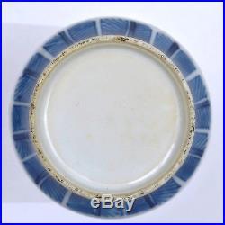 19th Century Chinese Blue & White Porcelain Vase with Fu Foo Lion Dog Faces