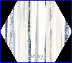22x25cm Blue white matt porcelain designer hexagon tiles 10 square metres pallet