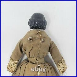 2 Antique Vintage German Porcelain China Head Dolls Broken For Parts