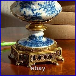 30cm Chinoiserie vase blue and white Chinese Urn Ginger Jar Vase