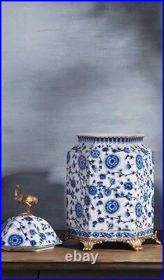 32 cm Chinoiserie jar Blue and White Chinese Porcelain Ginger Jar 3.7021346677