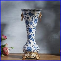 35cm Chinoiserie Antique style blue and white Chinese Urn Ginger Jar Vase