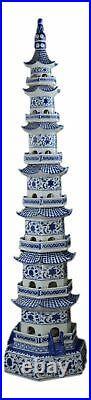 47 Classic Blue and White Porcelain Pagoda, Jingdezhen