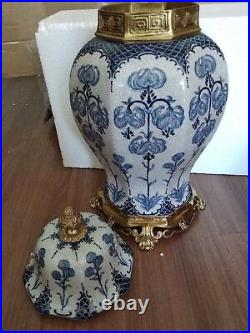 50 cm Extra large Chinoiserie European style Blue and White Chinese Ginger Jar