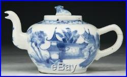 A Chinese Antique Blue & White Porcelain Teapot