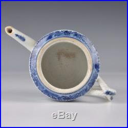 A Chinese Blue & White Porcelain 18th Ct Qianlong Period Teapot With Landscape