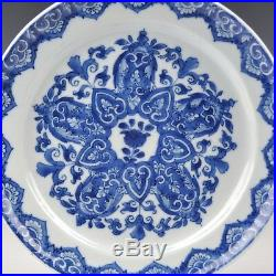 A Pair Blue & White Chinese Porcelain 18th Ct Kangxi Period Delft Style Plates