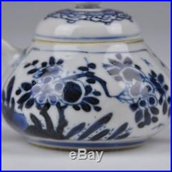 A Perfect Chinese Blue&White Porcelain Kangxi Per. Teapot With Floral Decoration