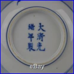 A Small Chinese Blue & White Porcelain Guangxu Mark & Period Dish Circa 1900