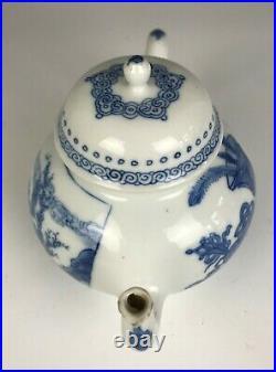 A Stunning Chinese Blue & White Teapot, Ming Jiajing Mark, Kangxi Period 17/18 C