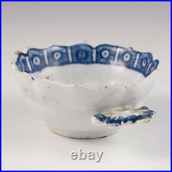 A Very Rare Bow Blue and White Porcelain Wine Taster c1765