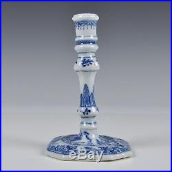 An 18th Century Blue & White Chinese Porcelain Qianlong Period Candle Holder