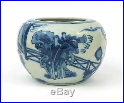 An antique Chinese blue and white porcelain bowl, Jiajing mark, Qing dynasty