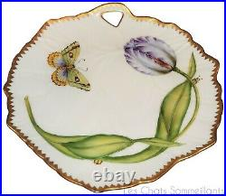 Anna Weatherley, Blue Tulip Sculpted Leaf Porcelain Dish, New, Retail $325