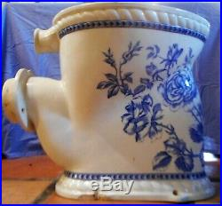 Antique 1880s Blue & White Waterfall Toilet RD No 267648 Rare & Beautiful