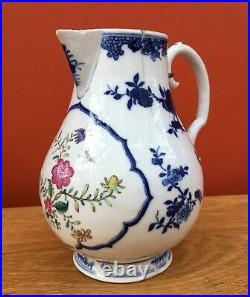Antique 18th Century Chinese Export Porcelain Blue and White Large Jug