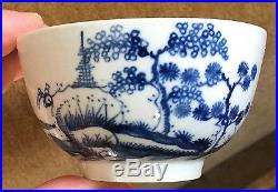 Antique 18th century Worcester Porcelain Tea Cup Chinese Taste Blue & White 1770