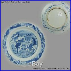 Antique Blue White Chinese Jiajing Wanli 16th Century Chinese Porcelain
