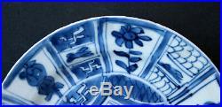 Antique Chinese Blue & White Kraak Porcelain Dish French Flea Market Find
