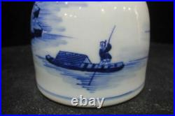Antique Chinese Blue and White Painting Porcelain Vase Marked KangXi