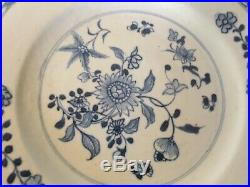 Antique Chinese Export Porcelain Dinner Plate Blue & White 18th century 1780