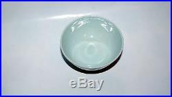 Antique Chinese Porcelain Blue White Fruit Bats Shou Mark Bowl Endless Knot Mark