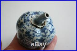 Antique Chinese Porcelain Blue & White Pumpkin Shaped Water Dropper Marks
