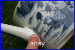 Antique Chinese Porcelain Hand Painted Blue and White Teapot