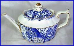 Antique Royal Crown Derby Mikado Blue and White Porcelain China Teapot