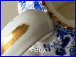 Antique Teapot, Copeland, Spode Old Backstamp C. 1881-1910 Willow Blue White