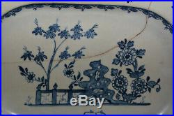 BOW or LIMEHOUSE C1746-8 Soft Paste Porcelain Blue & White OCTAGONAL SERVER