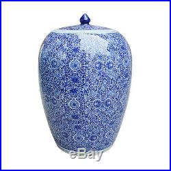 Beautiful Blue and White Cluster Flower Porcelain Ginger Jar 20.5