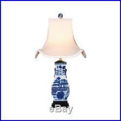 Blue and White Blue Willow Chinese Porcelain Vase Table Lamp 22