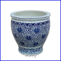 Blue and White Chinese Porcelain Handmade Outdoor Planter