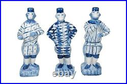 Blue and White Porcelain 3 Monkey Figurines 10