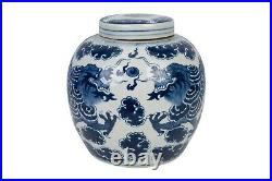 Blue and White Porcelain Cloud Dragon Porcelain Ginger Jar 11