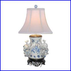 Blue and White Porcelain Vase Boy and Girl Table Lamp 20