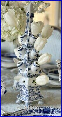 Blue and white Porcelain Tulipiere 22 inches tall