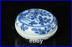 Boit Chinoise Porcelaine Antique Kangxi Box blue white porcelain vase