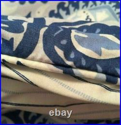 Brand New Ralph Lauren Queen 4 Piece Comforter Set Porcelain Blue Medallion