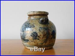 C. 16th Antique Chinese Ming Blue & White Porcelain Tea Pot Rabbit mark