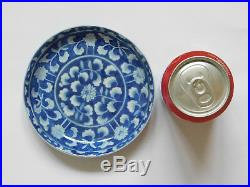 C. 18th Antique Chinese Blue & White Porcelain Kangxi Small Plate