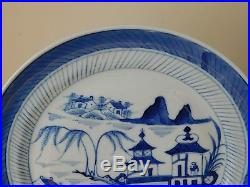 C. 18th Antique Chinese Kangxi Blue & White Porcelain Plate Mark