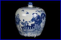 China 19. /20 Jh. Gefäß A Chinese Blue & White Porcelain Jar Cinese Chinois