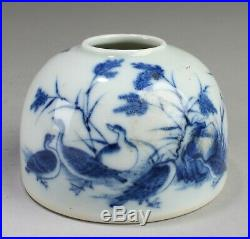 Chinese Blue & White Porcelain Ink Wash