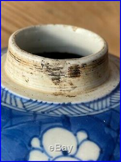 Chinese Kangxi Period Ice plum blue and white Porcelain Jar 18th C